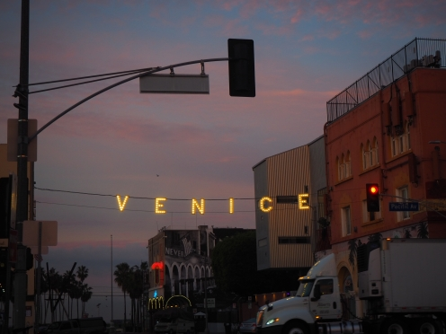 The iconic Venice sign